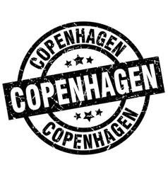 Copenhagen black round grunge stamp vector