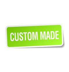 Custom made green square sticker on white vector