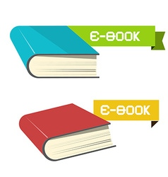 E-book Icons vector image