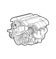 engine vector image vector image