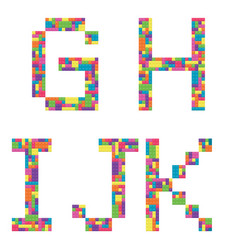 g h i j k alphabet letters from children vector image