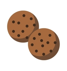 Gingerbread chocolate chip cookie vector