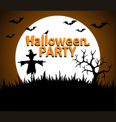 halloween party background orange vector image