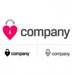 locks of love logo vector image