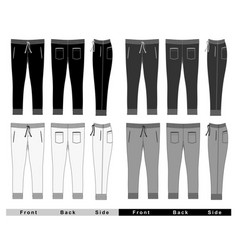 Mans fashion trousers vector