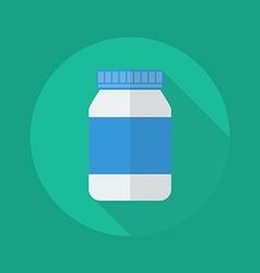 Medical Flat Icon Medicine bottle vector image vector image