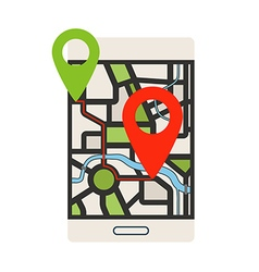Navigation technology concept Modern smartphone vector image