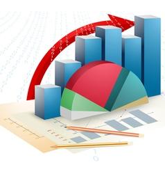 Presentation business bar graph vector