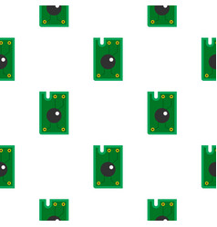 Processor chip pattern flat vector