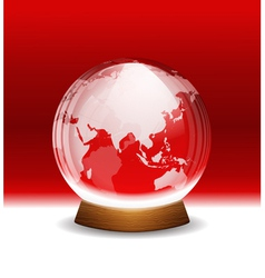 Transparent snow globe with map vector