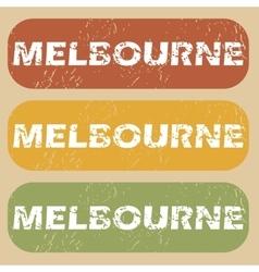 Vintage melbourne stamp set vector