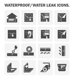 Waterproof basement icon vector
