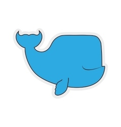 Whale cute animal little icon graphic vector