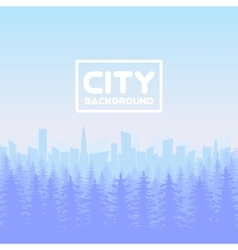 Panorama of city with forest vector