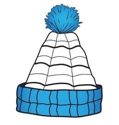 Children cap with a pompon vector image