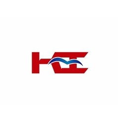 Ki company linked letter logo vector