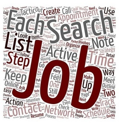 Organize your job search text background wordcloud vector