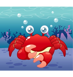Crab in sea vector image
