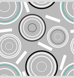 Concentric circles seamless pattern vector