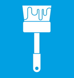 paint brush icon white vector image
