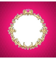 Frame barocco vector image