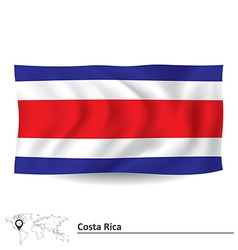 Flag of costa rica vector