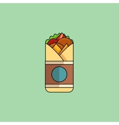 Chicken roll in minimalist style vector