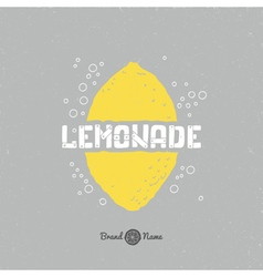 Hand drawn lemon silhouette with lemonade vector