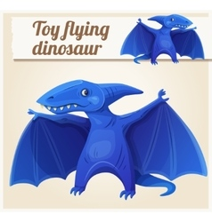 Toy flying dinosaur 7 cartoon vector
