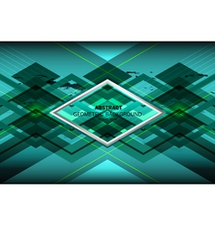 Blue ocean geometric background vector