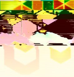 Glitch art background vector image