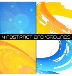 Set of polygonal abstract backgrounds vector