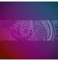 Abstract hand drawn pattern with snakes vector