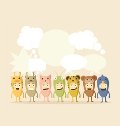 Animal and Speech Bubbles vector image vector image