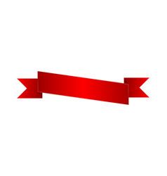 bright red blank ribbon isolated icon vector image