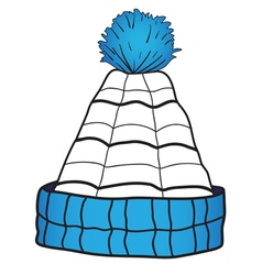 Children cap with a pompon vector image vector image