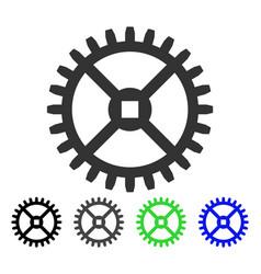 Clock gear flat icon vector
