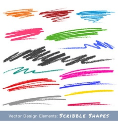 Colorful Scribble Smears Hand Drawn in Pencil logo vector image vector image