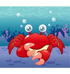Crab in sea vector image vector image