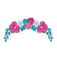 Cute flower branch decoration vector