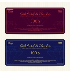 Elegant gift card or gift voucher template vector image vector image