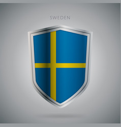 Europe flags series sweden modern icon vector