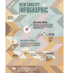 Geometric Background and New Concept Infographic vector image vector image