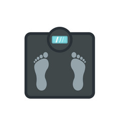 gray floor scales icon flat style vector image