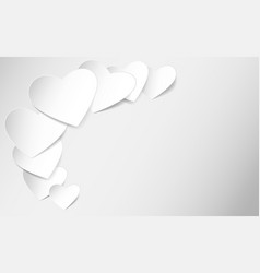 heart shaped note paper vector image vector image