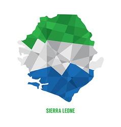 Map of sierra leone vector