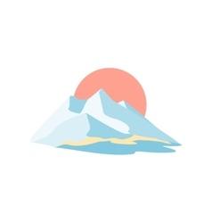 Mountain island Symbolic image vector image