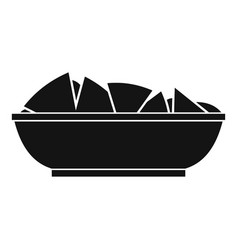 Nachos in bowl icon simple style vector