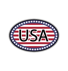 Oval sticker USA vector image