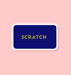 paper sticker on stylish background scratch card vector image vector image